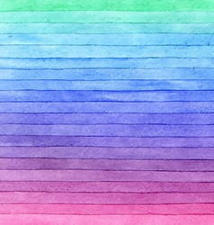 Watercolor colorful brush strokes striped vector image