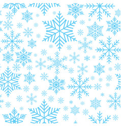 winter snowflakes seamless background pattern vector image vector image