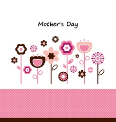 Beautiful flowers for Mothers Day celebration vector image vector image