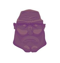 Cartoon dark Brutal Man Face vector image