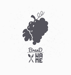 hand drawn silhouette of grape bunch vector image vector image