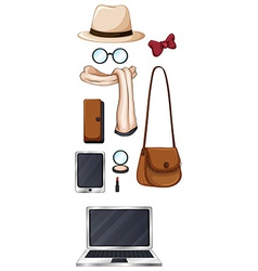 Hipster items vector image vector image