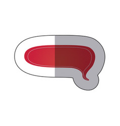 Red chat bubble icon vector