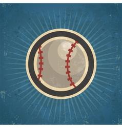 Retro baseball vector