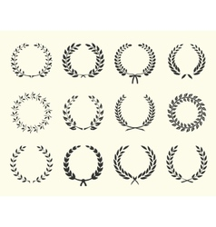 silhouettes of wreaths vector image