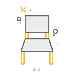 Thin line icons Chair vector image vector image