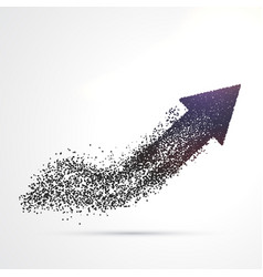 abstract arrow design made with particles vector image
