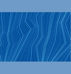 abstract blue dotted lines refraction tech vector image