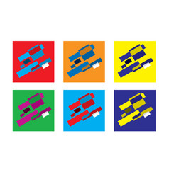 Abstract geometric modern versicolored vector