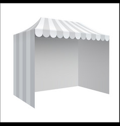 Advertising outdoor event trade show tent vector