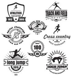 Athletics emblems vector image