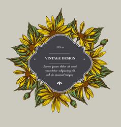 Badge over design with jerusalem artichoke vector