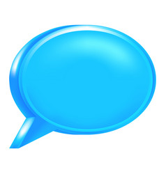 Blue blank speech bubble icon vector