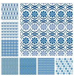 blue seaml set 3 380 vector image