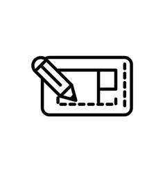 blueprint pencil design architecture icon line vector image