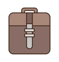 Cartoon briefcase document business with strap vector