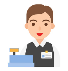 cashier icon profession and job vector image