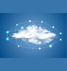cloud computing cloud with dots big data vector image