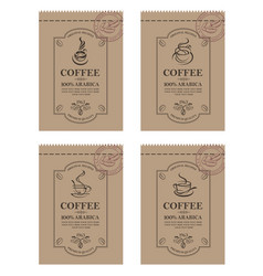 coffee packaging set vector image