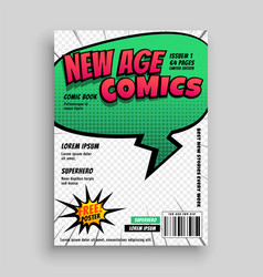 comic book page cover template design vector image