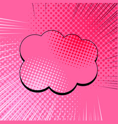 Comic pink explosive concept vector