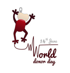 concept on the world blood donor day on june 14 a vector image
