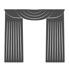 Curtains on a white background Silhouette vector image