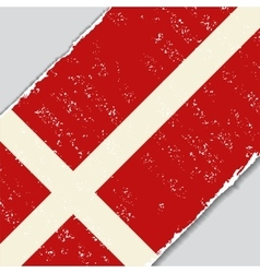 Danish grunge flag vector