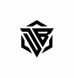 db logo monogram with triangle and hexagon modern vector image