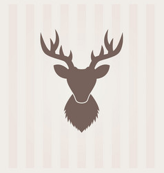 Deer head silhouette isolated element vector