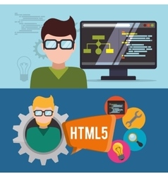 Developer web responsive design vector
