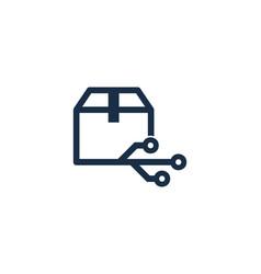 digital box logo icon design vector image