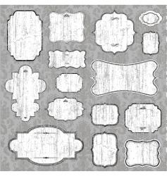Distressed blank frame set vector