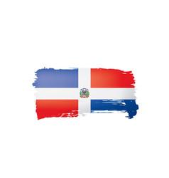 Dominicana flag on a white vector