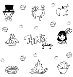 Eat element doodle of thanksgiving vector image