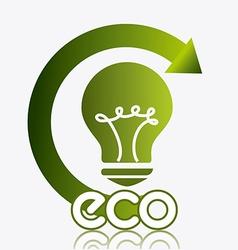 Ecocity design vector image