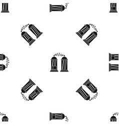 Electrical impulses pattern seamless black vector