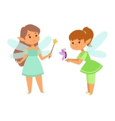 Fairies cartoon character vector image