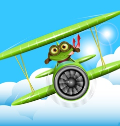 frog pilot vector image