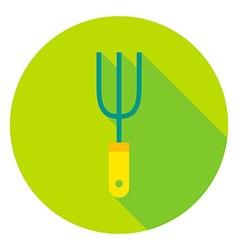 Garden Fork Tool Circle Icon vector