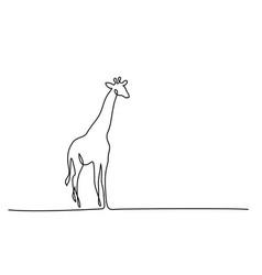 Giraffe walking symbol vector