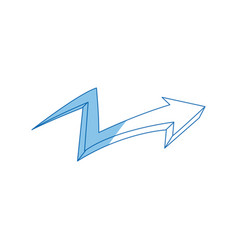 graffiti arrow abstract design creative icon vector image