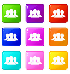 group of people set 9 vector image