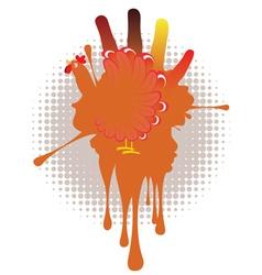 Grunge Hand Chicken4 vector