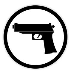Gun button on white vector