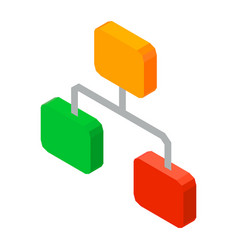 Hierarchy network 3d icon vector