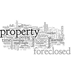 Home foreclosures and big profits just another vector