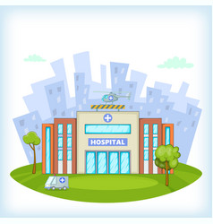 hospital concept cartoon style vector image