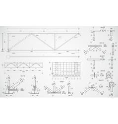 Industrial truss vector image