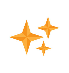 isolated star shape icon vector image